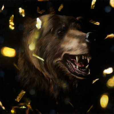 "Bear (2012), oil on canvas, approximately 32"" square"