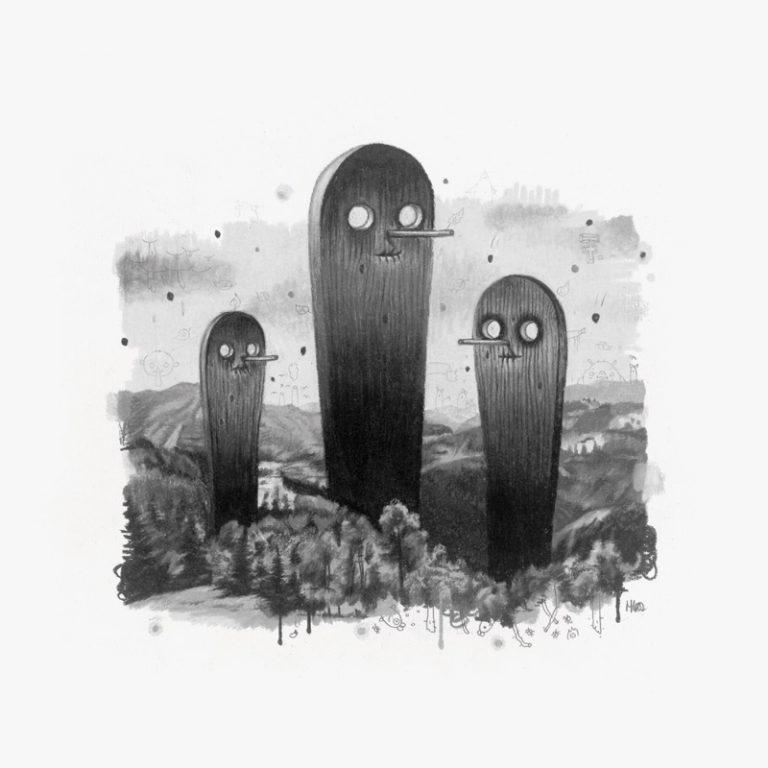 3 Grim Reaper, 2007, colored pencil on paper, 20 x 20 cm