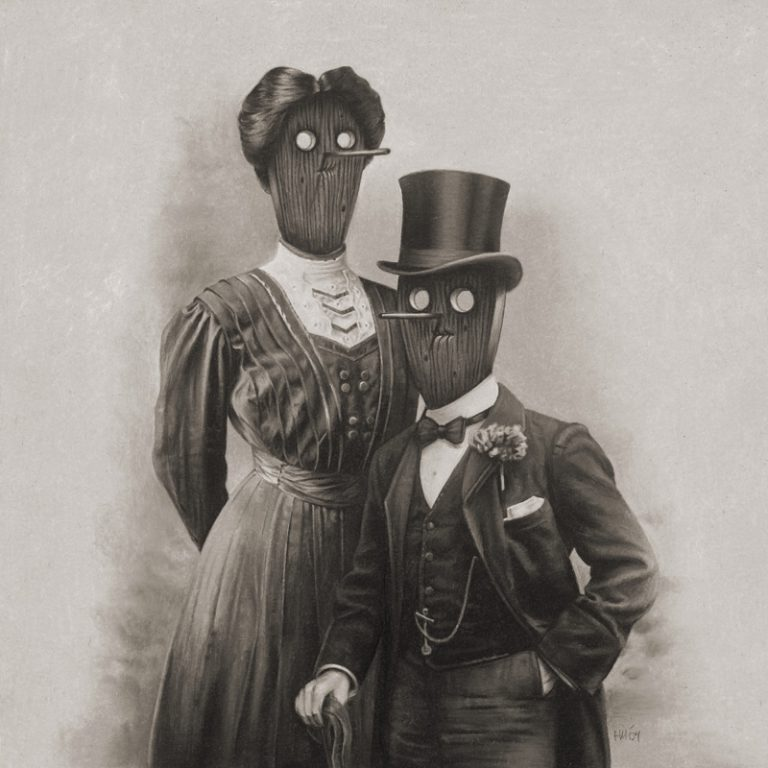Fancy Couple, 2009, colored pencil on paper, 30 x 30 cm
