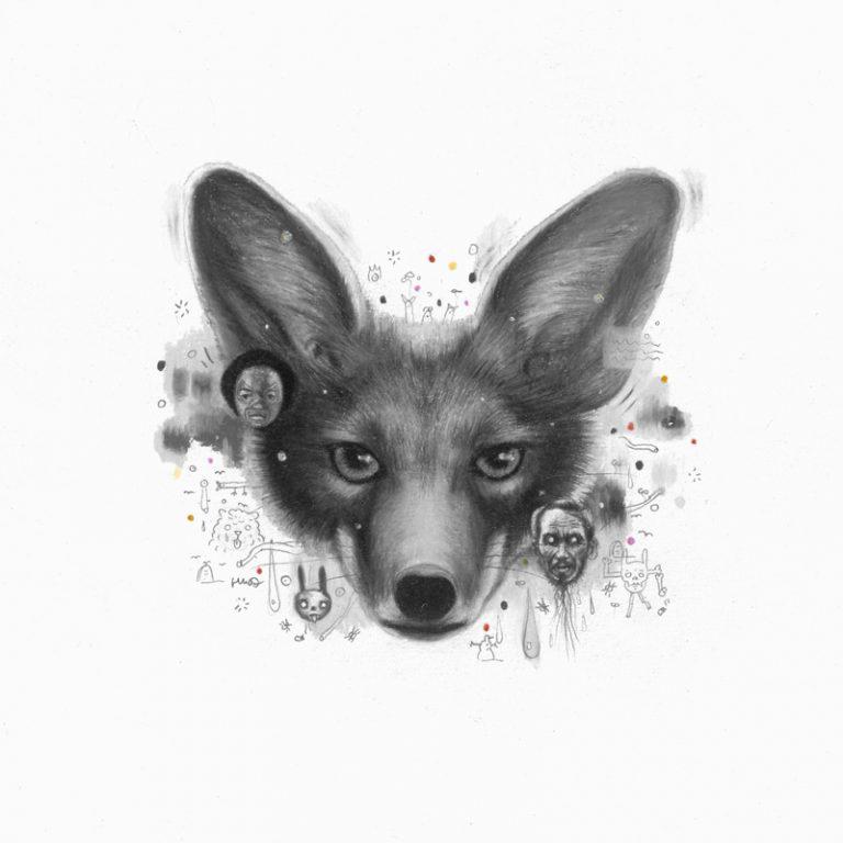 Fox, 2007, colored pencil on paper, 20 x 20 cm